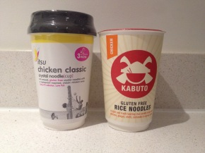 Battle of the gluten free noodles – Itsu vs Kabuto