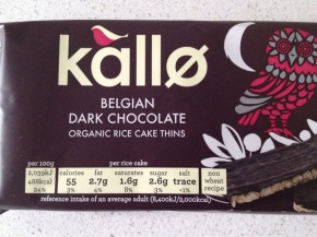 Product Review: Kallo Belgian Dark Chocolate Organic Rice Cake Thins