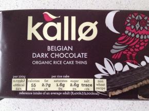 Product Review: Kallo Belgian Dark Chocolate Organic Rice CakeThins