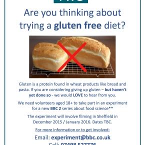 Take part in a gluten investigation onBBC2
