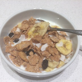 Home made gluten free fruity fibre cereal