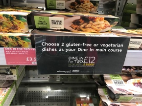 M&S dine in gluten free